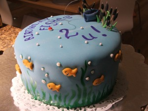Birthday Fishes Cake 2